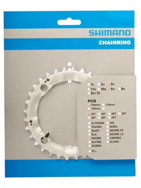 Shimano Deore FC-M510 Chainring 104 mm silver